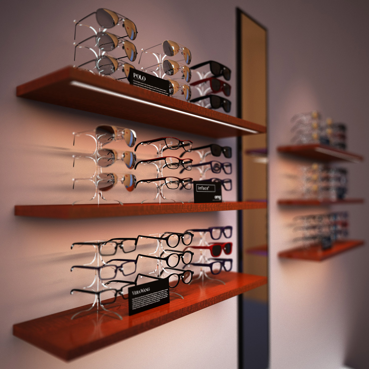 Eyeglasses display - Eyewear Design Has Radically Outpaced This Display Methodology Frame Details And The Individuality Of Each Creation Are Diminished When Frames Are