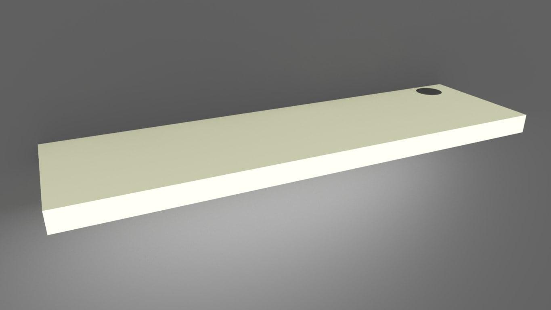 Lit Wood Shelves (Set of 3) Wiring Shelves on