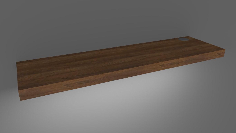 LED Floating Shelf 36in American Black Walnut Medium